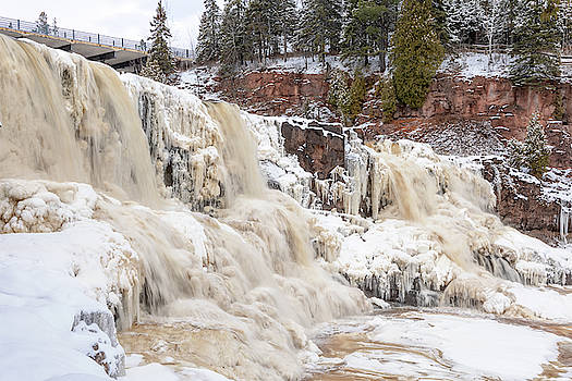 An Icy Gooseberry Middle Falls by Susan Rissi Tregoning