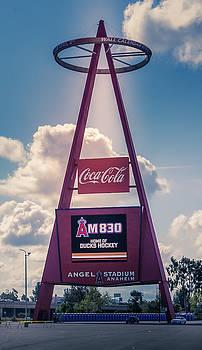 Anaheim Stadium Big A Scoreboard by Art Spectrum