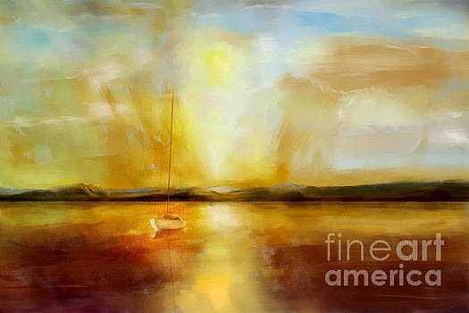 Anchored for the night by Jan Brons