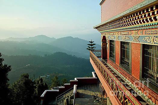 Ancient buddhist monastery in Nepal by Raimond Klavins