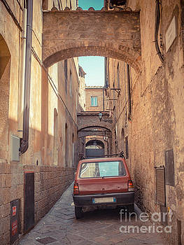 Ancient Streets of the Hill Town Volterra Italy by Edward Fielding