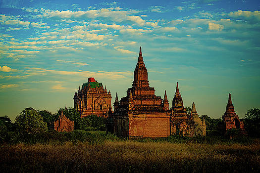 Ancient Stupas In Bagan Myanmar by Chris Lord