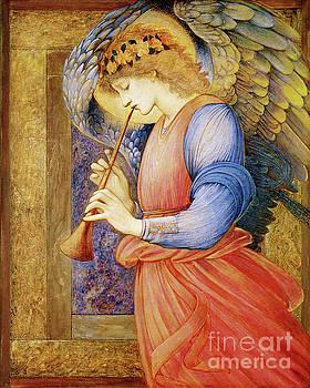 Tina Lavoie - Angel Gabriel Blowing His Horn Vintage Christian art