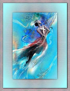 Freddy Kirsheh - Angel with blue wings
