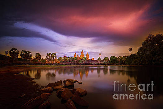 Angkor Wat after the storm by Darren Wilch