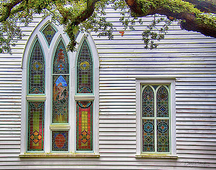 Ann St. Methodist Church Stained Glass Windows by Debby Richards