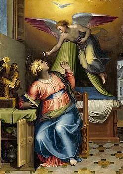 Annunciation to the Virgin by Marcello Venusti
