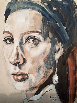 Another Girl With a Pearl Earring by Christel Roelandt
