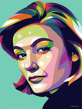 Anouk Aimee by Stars-on- Art