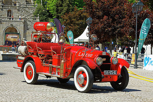 Antique Fire Engine by Sally Weigand