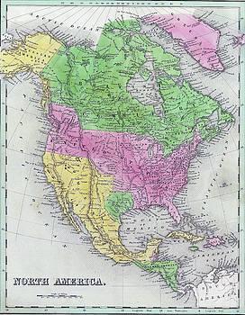 Antique map of North America by Steve Estvanik