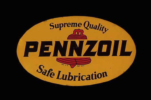 Antique Pennzoil Sign by Chris Flees
