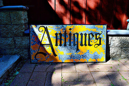 Antiques Sign by Glenn McCarthy Art and Photography