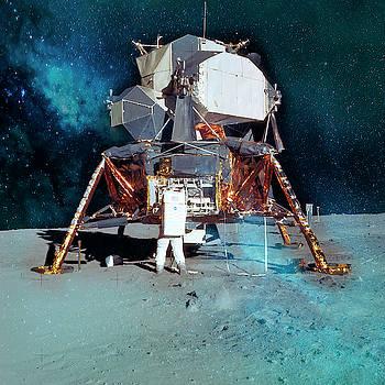 Apollo 11 Lunar Module Resting On Lunar Surface by Johanna Hurmerinta