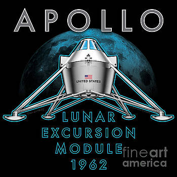 Apollo Lunar Excursion Module 1962 by Dave Ginsberg