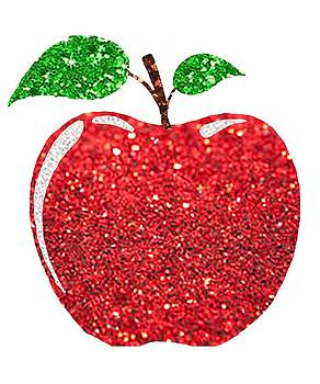 Apple Faux Red Glitter by Swigalicious Art