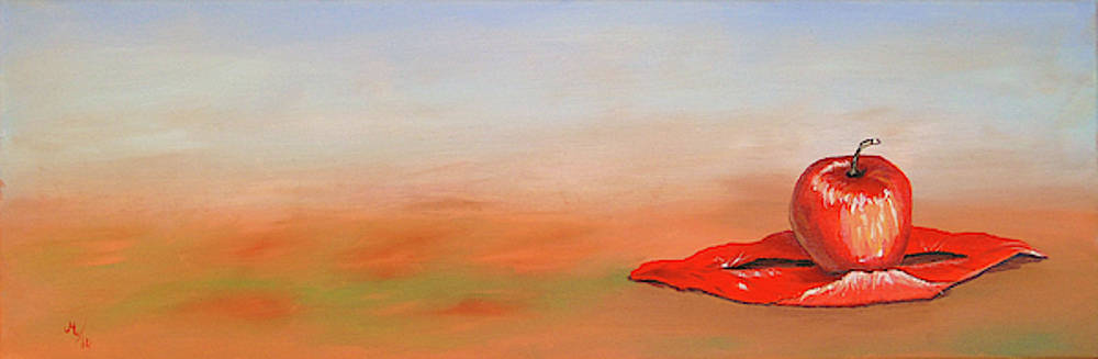 Apple In Red by Maria Woithofer