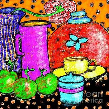 Apples with Purple Jug by Caroline Street