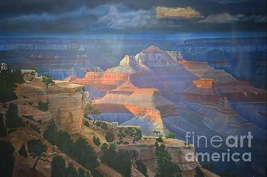 Approaching Shoshone  by Jerry Bokowski