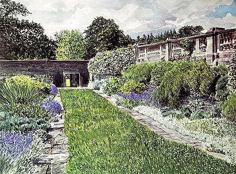 Approaching The Hatley Castle Italian Gardens by David Lloyd Glover
