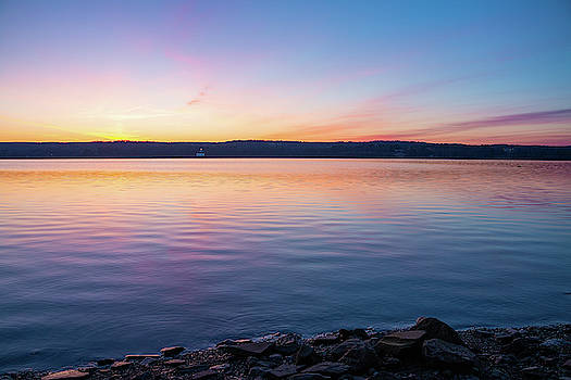 April Dawn on the Hudson River I by Jeff Severson