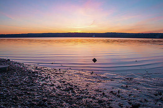 April Dawn on the Hudson River II by Jeff Severson