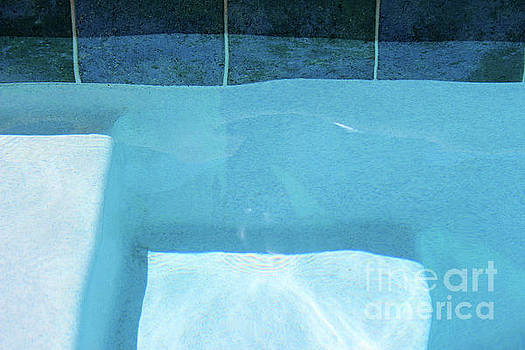 Aqua Agua Abstract Two by Karen Adams