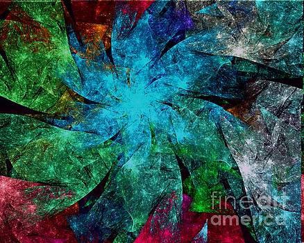 Aqua Starry Spiral by Kim Sy Ok