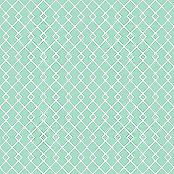 Aquamarine Green Diamond Pattern by Ross