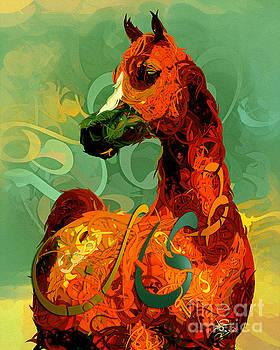 Arabian Horse 11 by Imad Abu shtayyah