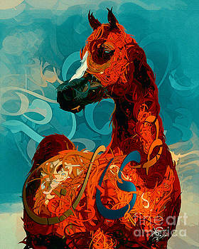 Arabian Horse 12 by Imad Abu shtayyah