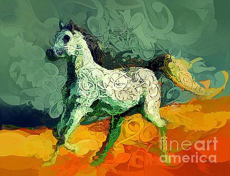 Arabian Horse 13 by Imad Abu shtayyah