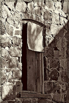 Arch Stone Window in Black and White by Images Undefined