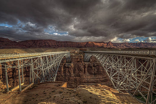 Arched Bridges over the Colorado River by Constance Puttkemery
