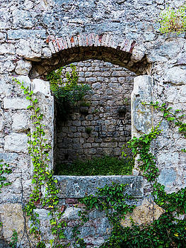 Arched Stone Window by Rae Tucker