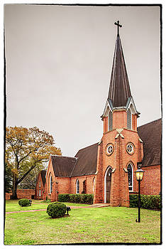 Architectural Photograph of Christ Episcopal Church in Nacogdoches East Texas Piney Woods by Silvio Ligutti