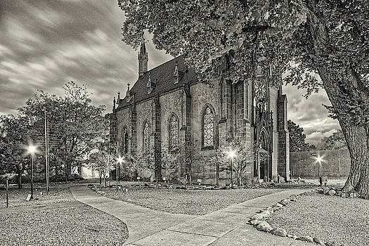 Architectural Photograph of Loretto Chapel in Downtown Santa Fe - The City Different - New Mexico by Silvio Ligutti