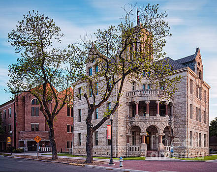 Architectural Photograph of the Comal County Courthouse in Downtown New Braunfels Texas Hill Country by Silvio Ligutti