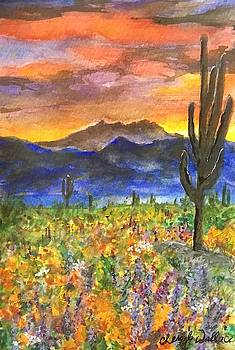 Arizona Spring Sunrise by Cheryl Wallace