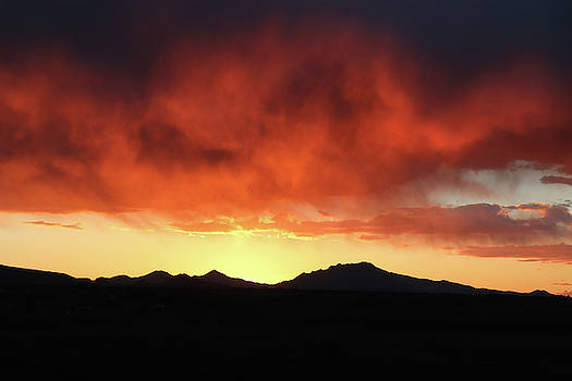 Arizona Sunset Abstract  by David T Wilkinson