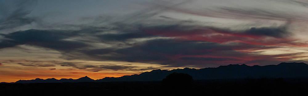 Arizona Sunset Panorama by Cascade Colors