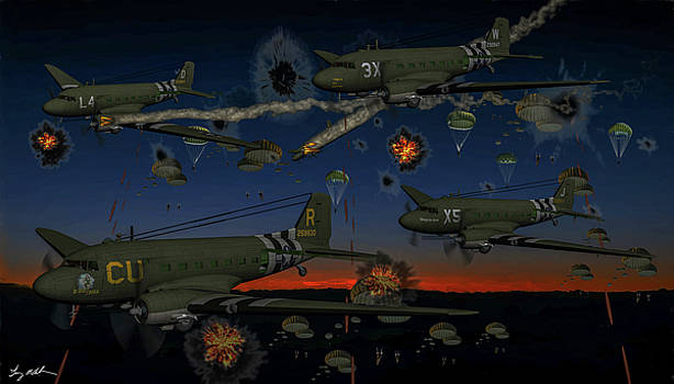 Army airborne - Oil by Tommy Anderson