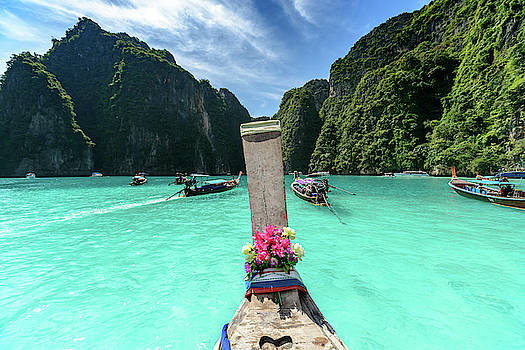 Arriving in Phi Phi Island, Thailand by Ian Robert Knight