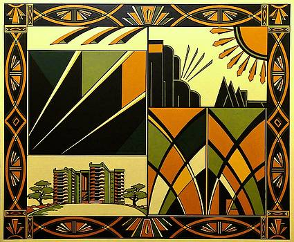 Art Deco Hinton Wood by Emma Childs