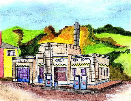 Art Deco Service Station by Paul Meinerth