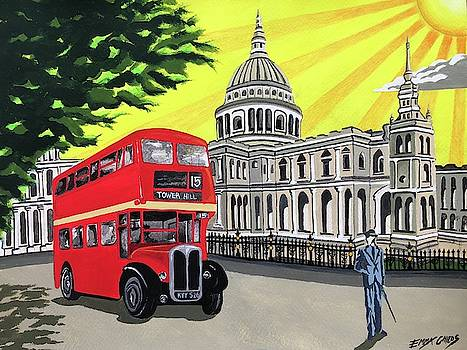 Art Deco St Pauls Cathedral by Emma Childs