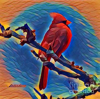 Art From The Heart Cardinal 2 by JudithAnne Monahan