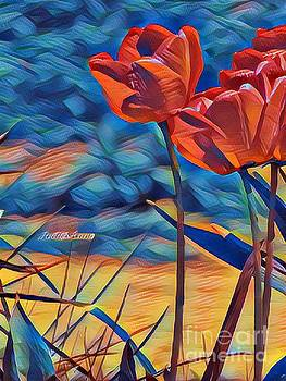 Art From The Heart Tulips 2 by JudithAnne Monahan