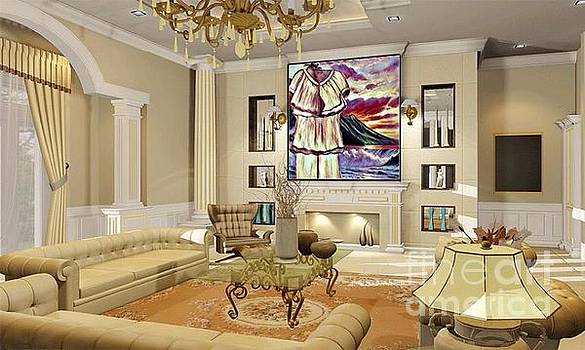 Art Used As Interior Design In Living Space by Debra Lynch