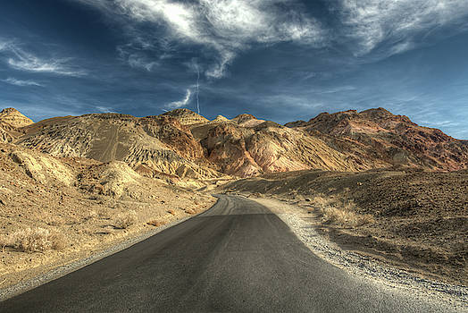 Artist Drive in Death Valley National Park by Constance Puttkemery